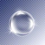 Bellenwater, schuim, op transparante achtergrond Realistische vector Royalty-vrije Stock Fotografie