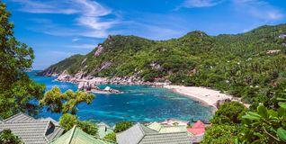 Belles îles de Koh Tao en Thaïlande Baie de Tanote Photographie stock libre de droits