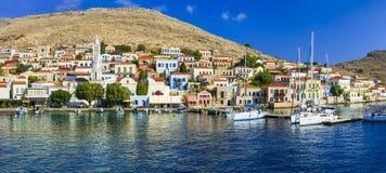 Belles îles de la Grèce - le Halki photos libres de droits