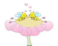 Belles abeilles Photo stock