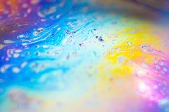 Belles abstractions psychédéliques dans la mousse de savon Photos stock