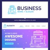 Belles affaires de marque de concept d'affaires, marché, org illustration stock