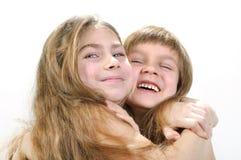 Belles amies heureuses image stock