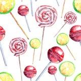 Belles belles sucreries mignonnes délicieuses savoureuses délicieuses colorées lumineuses de dessert d'été sur un modèle différen Image stock