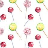 Belles belles sucreries mignonnes délicieuses savoureuses délicieuses colorées lumineuses de dessert d'été sur un modèle de diago Photos stock