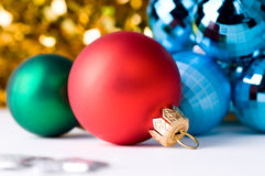 Belles billes de couleur de Noël Images stock