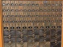Belles boîtes aux lettres d'or Images libres de droits