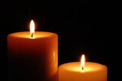 Belles bougies de Lit Images libres de droits