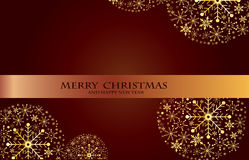 Belles boules brillantes décoratives de Noël Photo libre de droits