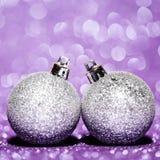 Belles boules de Noël de scintillement Images libres de droits