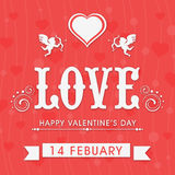 Belles cartes de voeux pour la célébration heureuse de Saint-Valentin Images libres de droits