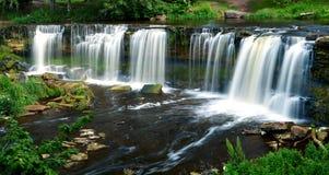 Belles cascades dans Keila-Joa, Estonie Photos stock