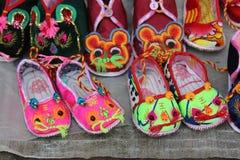 Belles chaussures chinoises de tigre Images libres de droits