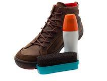 Soin de chaussures photographie stock libre de droits