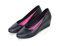 Belles chaussures pour des dames d'isolement sur le fond blanc Images stock