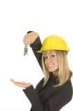 Belles clés blondes de fixation Images stock
