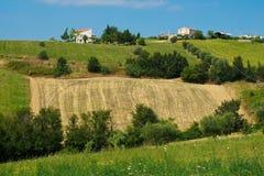 Belles collines dans la province de Teramo Image stock