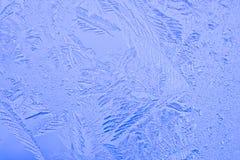 Belles configurations sur une glace figée Photos libres de droits