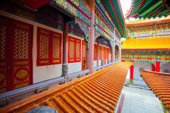 Belles constructions dans le temple chinois Photographie stock