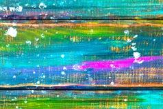 Belles courses de couleur peintes sur un fond en bois image libre de droits