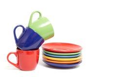 Belles cuvettes de couleur Image stock