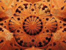Belles décorations islamiques du plafond 3D de palais d'Isphahan en Iran Photos libres de droits