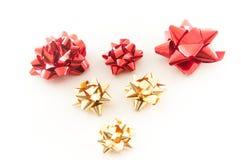 Belles décorations rouges de Noël Photographie stock libre de droits