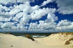 Belles dunes baltiques Région de Kaliningrad, Russie images stock