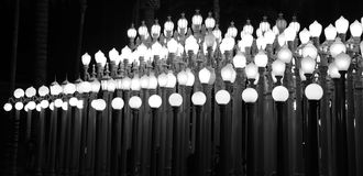 Belles et magnifiques lumières de lacma images libres de droits