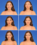 Belles expressions de femme Image stock