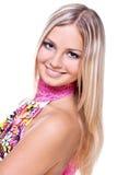 belles femmes colorées de robe Photo stock