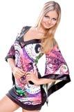belles femmes colorées de robe images stock