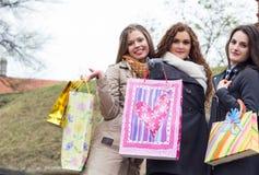 belles femmes d'achats jeunes image libre de droits