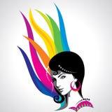 Belles femmes de mode créative avec le style Images stock