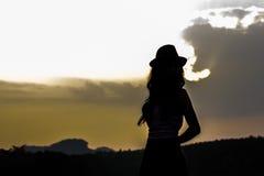 Belles femmes en silhouette Images libres de droits