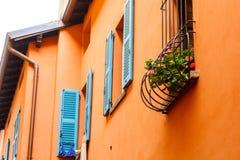 Belles fenêtres bleues Photographie stock libre de droits