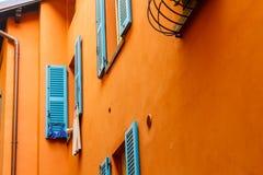 Belles fenêtres bleues Images libres de droits