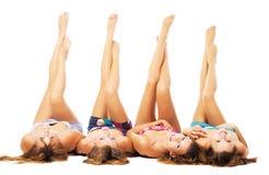 Belles filles avec les fuselages parfaits Photos libres de droits