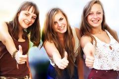 Belles filles d'étudiant Photo libre de droits