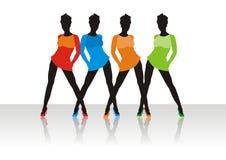 Belles filles de la pose modèle Image stock