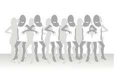 Belles filles de la pose modèle Images libres de droits