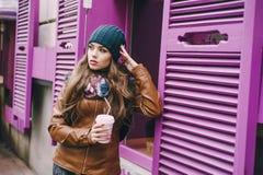 Belles filles de mode extérieures Images libres de droits