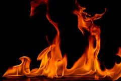 Belles flammes du feu Images stock