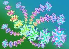 Belles fleurs abstraites avec le fond Illustration Stock