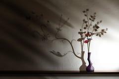 Belles fleurs avec une ombre bestiale Images stock