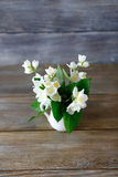 Belles fleurs blanches dans un vase photos libres de droits