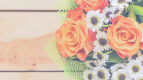 Belles fleurs dans le style de vintage Image stock