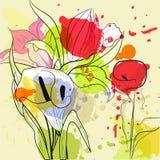 Belles fleurs de zantedeschias Image libre de droits