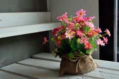 Belles fleurs en plastique Images stock