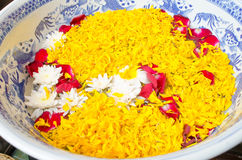 Belles fleurs flottant sur la cuvette chinoise Photographie stock